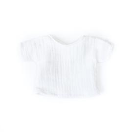 Nuki-Nuby poppenshirt shirtje wit muslin