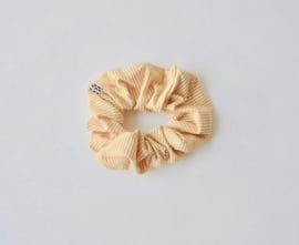Ollie & Flo scrunchie wokkel okergeel wit gestreept
