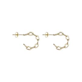 À la Collection Kleine oorbellen met halve maan ketting