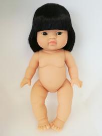 Paola Reina Pop Gordi meisje (Aziatisch met haar) 34cm