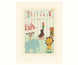 Maileg poster Circus mouse and friends