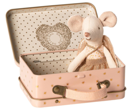 Maileg GUARDIAN ANGEL IN SUITCASE, LITTLE SISTER MOUSE