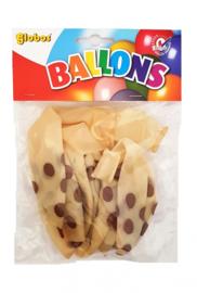 Ballonnen transparant met gouden stippen (6 stuks)