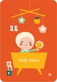 Bora Postkaart Hello Baby- bed