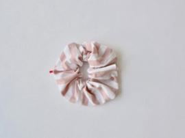 Ollie & Flo scrunchie wokkel roze streep