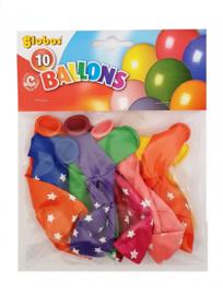Ballonnen met witte sterren (10 stuks)