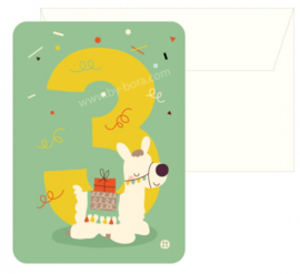 Bora Postkaart 3 jaar Alpaca