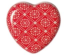 Maileg blikje hartvormig my flower dot tandendoosje