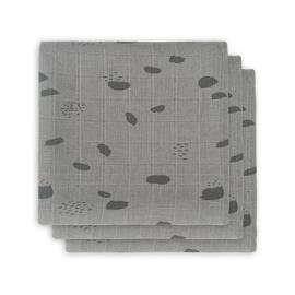 Jollein hydrofiel multidoek small (70x70cm) spot storm grey (3 pack)
