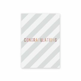 Leonie van der Laan postkaart Congratulations streep