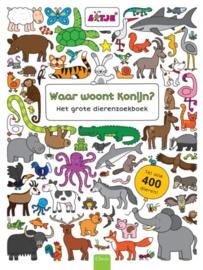 Waar woont konijn? Het grote dierenzoekboek
