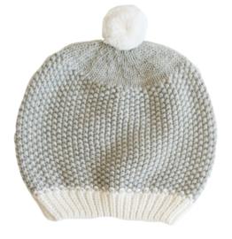 Alimrose BABY HAT POM POM - GREY