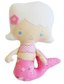 Alimrose Zeemeermin knuffel rammelaar Pink Bouquet- roze