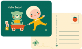 Bora Postkaart Hello Baby- toys