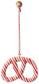 Maileg Ornament Pretzel rode streep