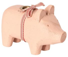 Maileg WOODEN PIG, SMALL - POWDER
