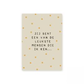 """Leonie van der Laan kaart """"leukste"""""""