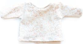 Nuki-Nuby poppenshirt gebroken wit met roest blaadjes