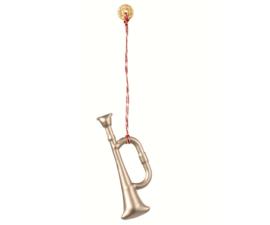 Ornament trompet, metaal Zilver