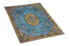 Vintage Badmat Geel Blauw