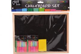 schoolbordje met krijt