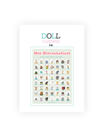 Illeke miniatuur poster Dierenkabinet 1:6 DIY kaart