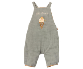 MAILEG OVERALL - DUSTY BLUE RABBIT SIZE 4,
