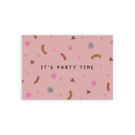 """Leonie van der Laan kaart """"Partytime"""""""