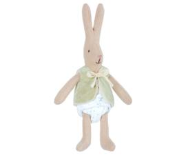 Maileg micro rabbit met groen vestje
