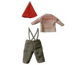 Maileg CHRISTMAS CLOTHES FOR MEDIUM MOUSE - BOY