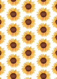 Fritsy kaart zonnebloemen
