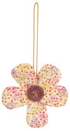 Maileg groot bloemornament paars knoopje