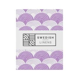 Swedish Linens Rainbows Lilac tweepersoons 180x200cm