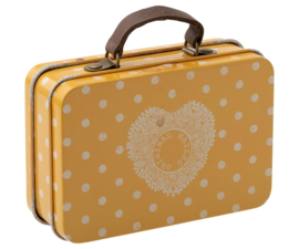 Maileg SUITCASE, METAL - YELLOW DOT