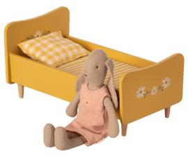 Maileg Wooden bed, Mini - Yellow