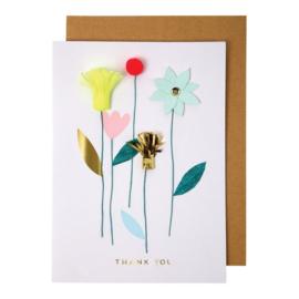 Meri Meri Thank you card