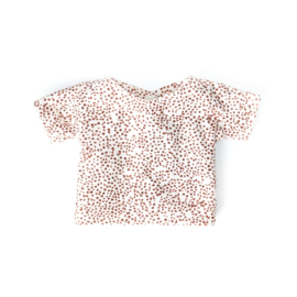 Nuki-Nuby poppenshirt shirtje wit met dots