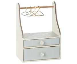 Maileg Wardrobe Dresser Mint - ladekastje met roede