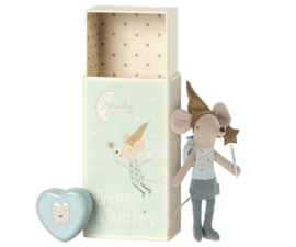 Maileg Tooth fairy mouse in matchbox - Blue