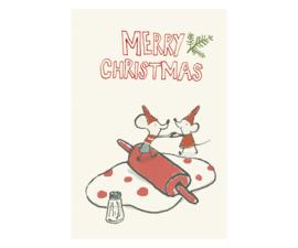 Maileg kaartje Mice are baking