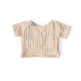 Nuki-Nuby poppenshirt shirtje beige muslin