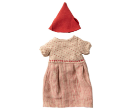 Maileg CHRISTMAS CLOTHES FOR MEDIUM MOUSE - GIRL