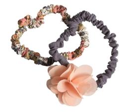 Maileg Haarelastiek fluffy bloem roze set van 2