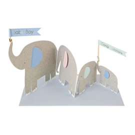 Meri Meri Baby boy olifant kaartje