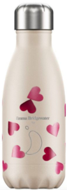 Chilly's Bottle 260ml Pink Hearts