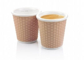 Les Artistes - Honeycombs Espresso Cups 10cl Nutmeg