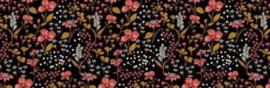 Hollie Rieten poppenwagen met bloemetjes bekleding