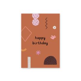 Leonie van der Laan postkaart Happy birthday