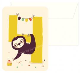 Bora Postkaart 4 jaar Sloth