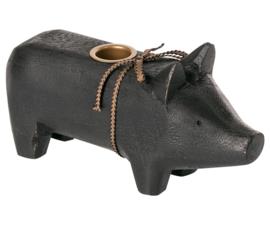 Maileg WOODEN PIG, MEDIUM - Black